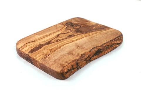 Olive Wood Single Side Rustic Edge Board
