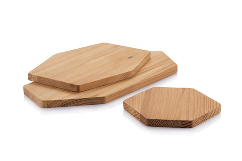 Cedar Wood Hex Serving Board - Plank