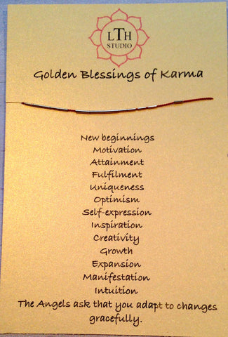 Golden Blessings of Karma Bracelet