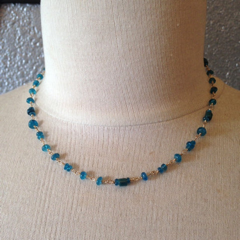 "Teal Apatite ""Manifestation"" Necklace"
