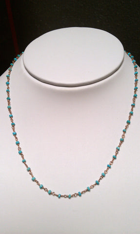 Rose Gold Turquoise Necklace