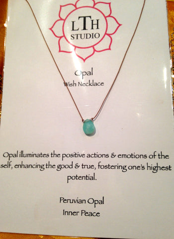 Wish Necklace- Opal