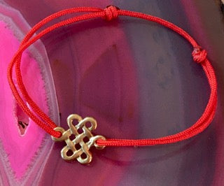Lucky Chinese Endless Knot Bracelet on Cord