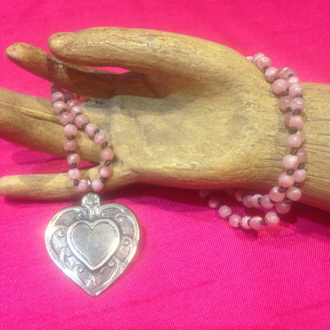 """Sacred Heart"" Rhodochrosite Necklace"