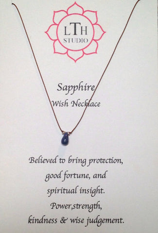 Sapphire Wish Necklace