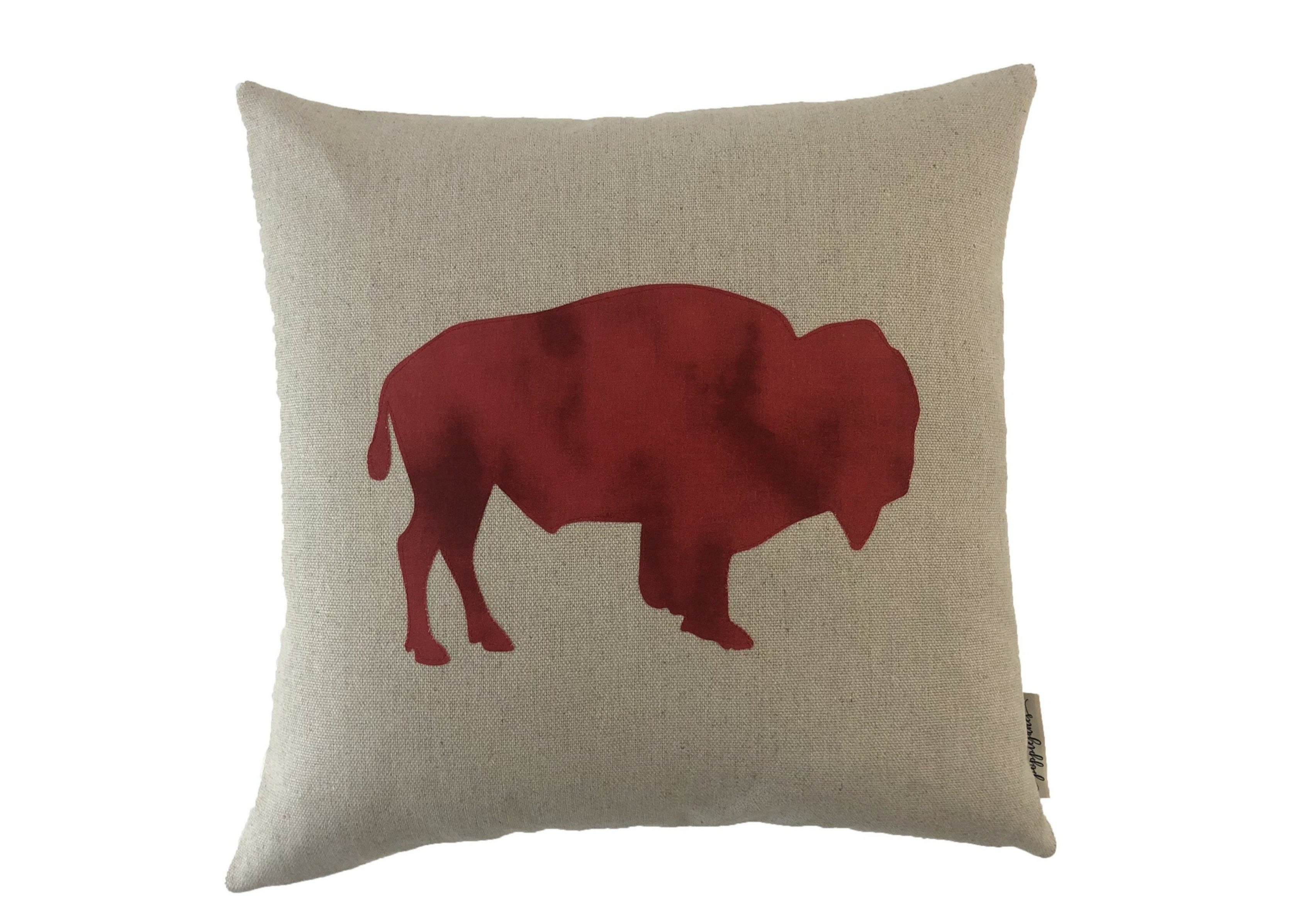 Buffalo Pillow Red Buffalo