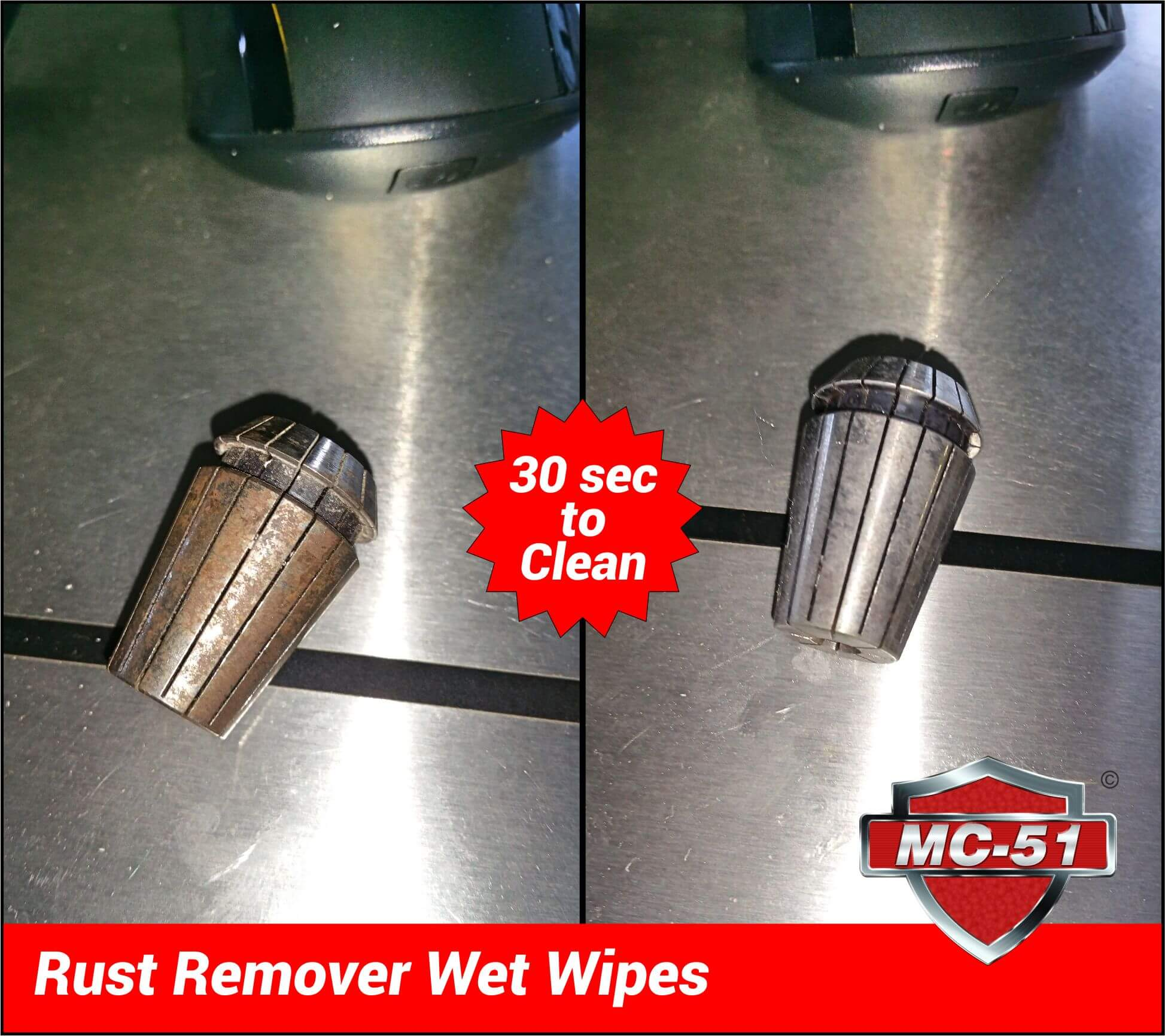 MC-51 Rust Remover Wet Wipes - The best rust remover