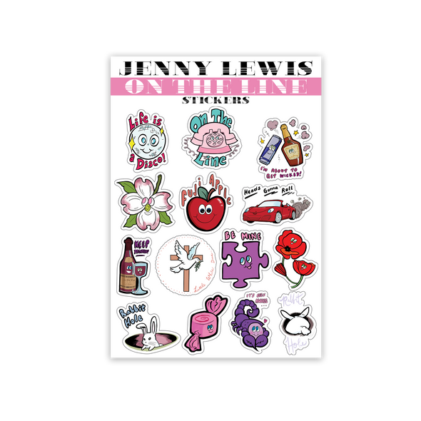 On The Line Sticker Sheet - Jenny Lewis Store