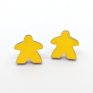 Wooden Meeple Earrings
