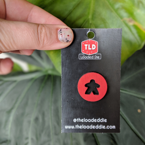 Wooden Meeple Pin