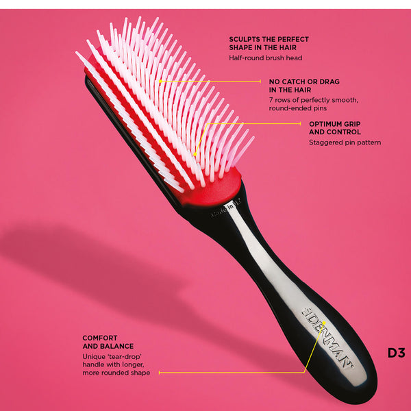 Denman Medium Styling Brush (7 row) D3
