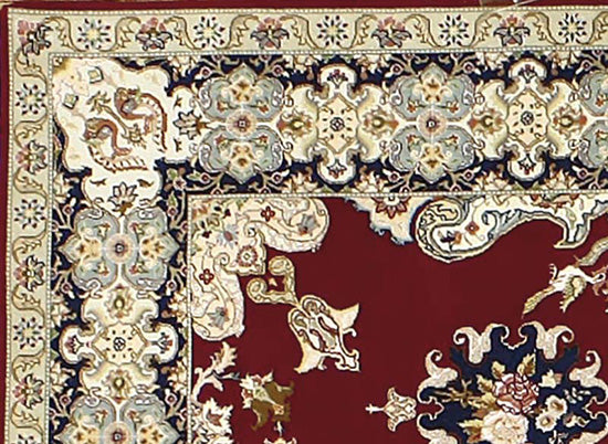 Tabriz Irani Rug made with wool and silk