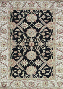 Black and Rust Chinese Tufted rug