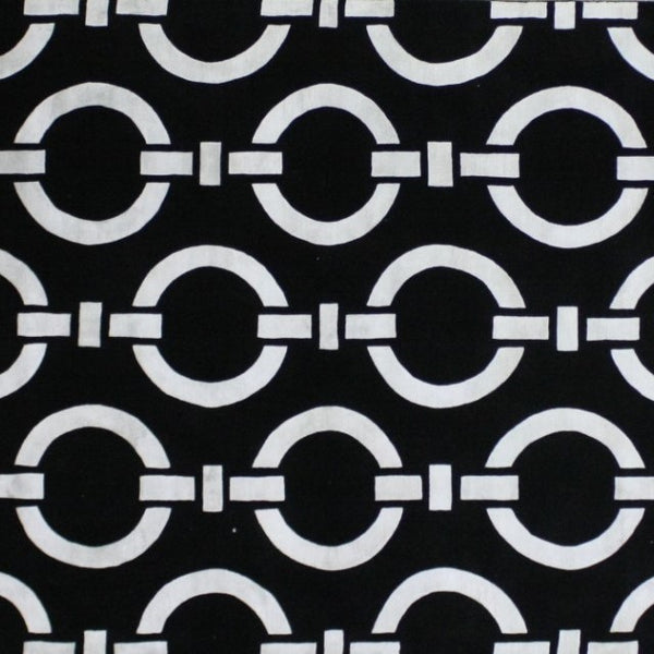 black and white geometrical indo Tibetan