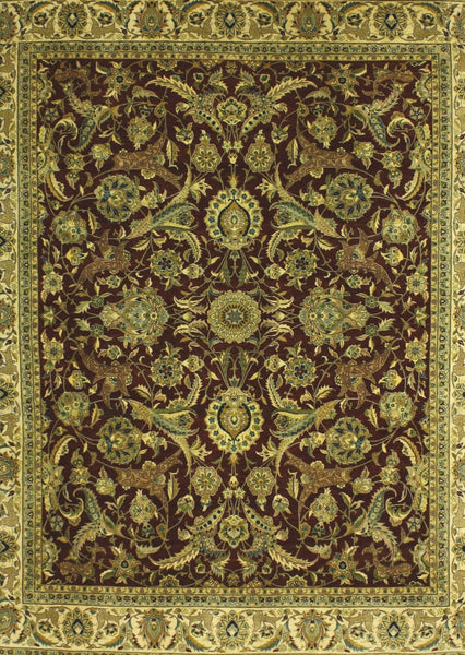 Brown Traditional All Over Rug