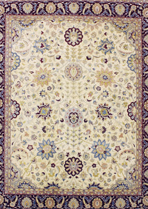 Cream Pak Persian Traditional Rug