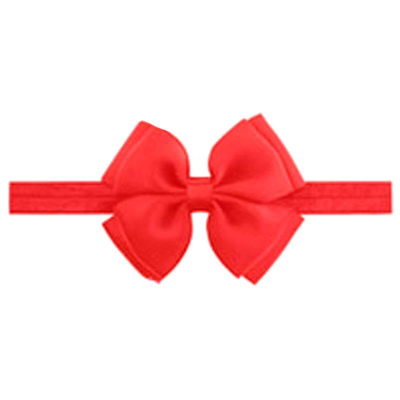 Baby Red Double Bow Headband