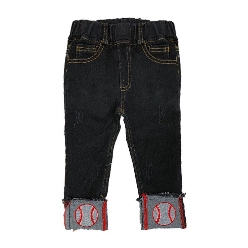 Baseball Denim Capri