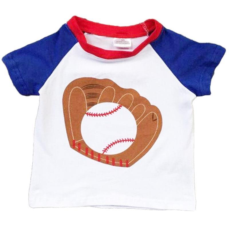 Baseball Glove Shirt Blue Raglan