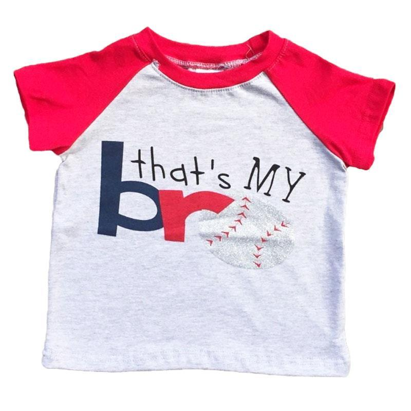 Baseball Shirt Thats My Bro Gray Red Raglan