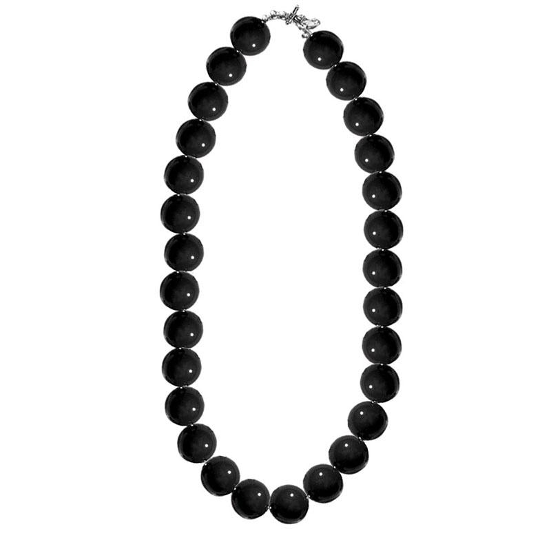 Black Gumball Necklace Adult