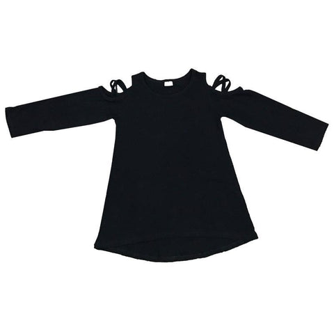 Black Over Shoulder Shirt Long Sleeve