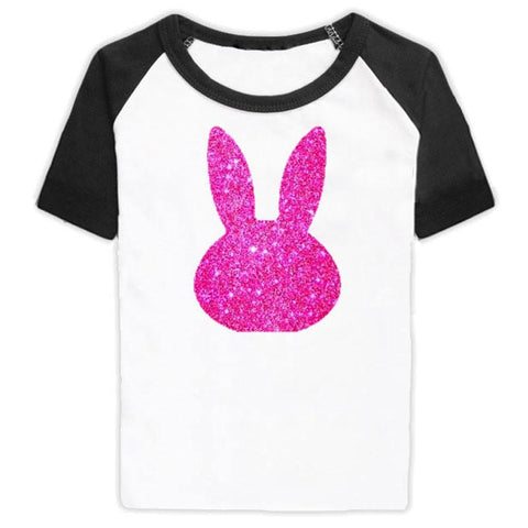 Black Reglan Pink Bunny Mommy Shirt