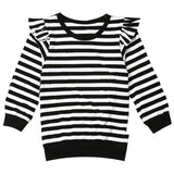 Black Stripe Shirt Ruffle Mommy And Me