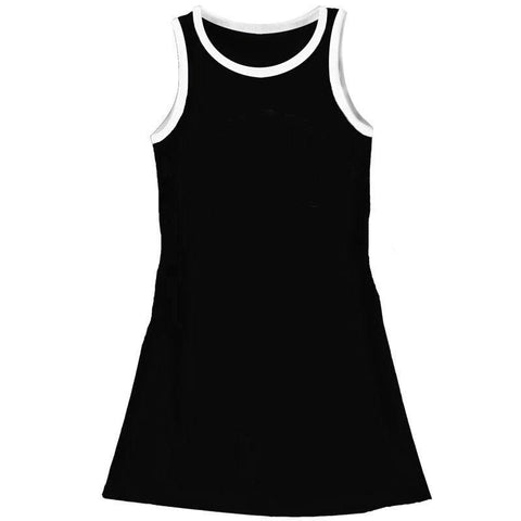 Black Tank Dress White Trim