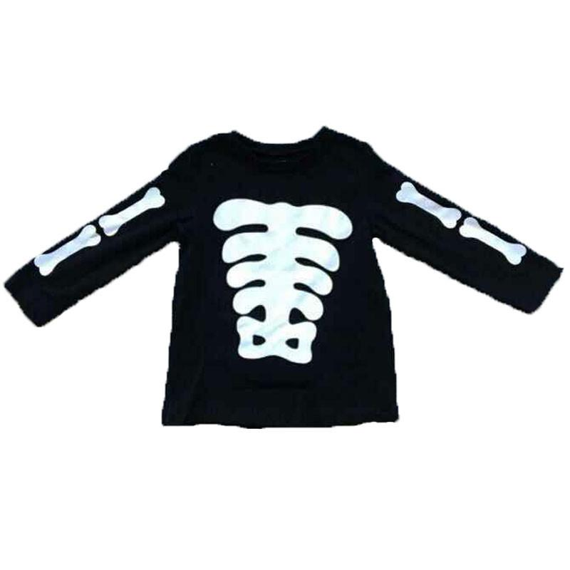 Black White Skeleton Bones Shirt