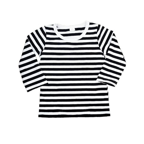 Black White Stripe Shirt Long Sleeve