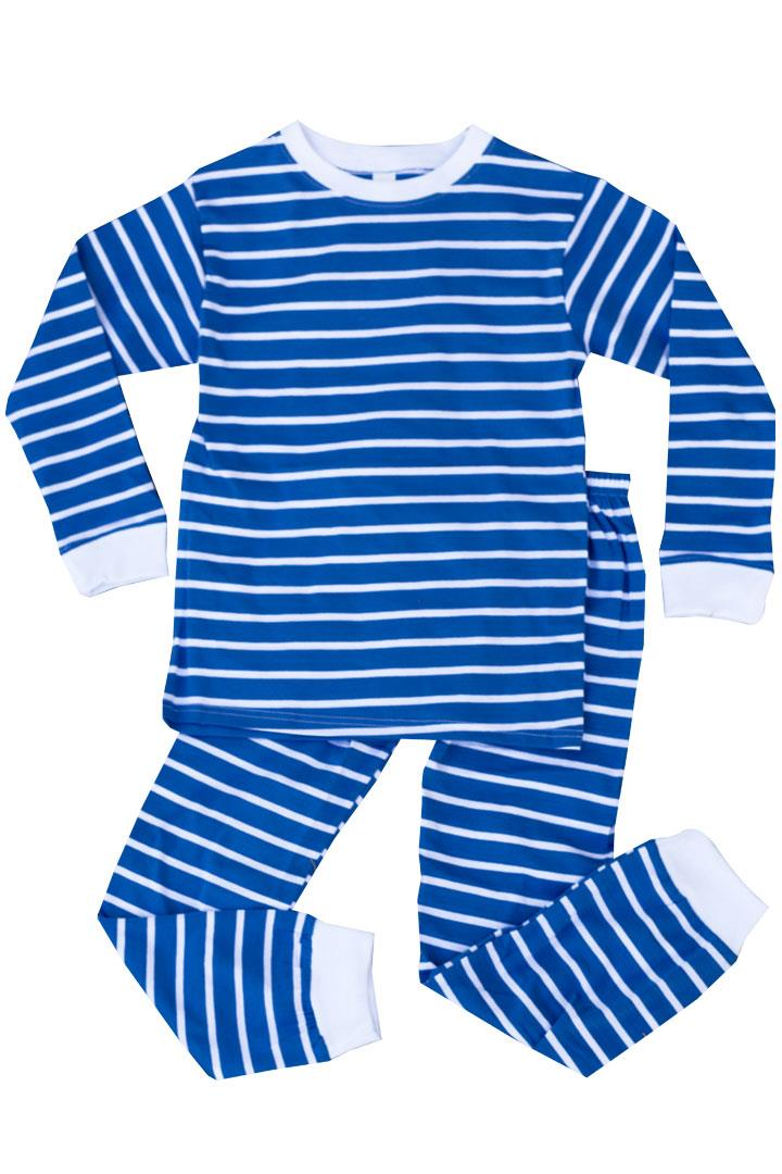 Blue White Stripe Pajamas