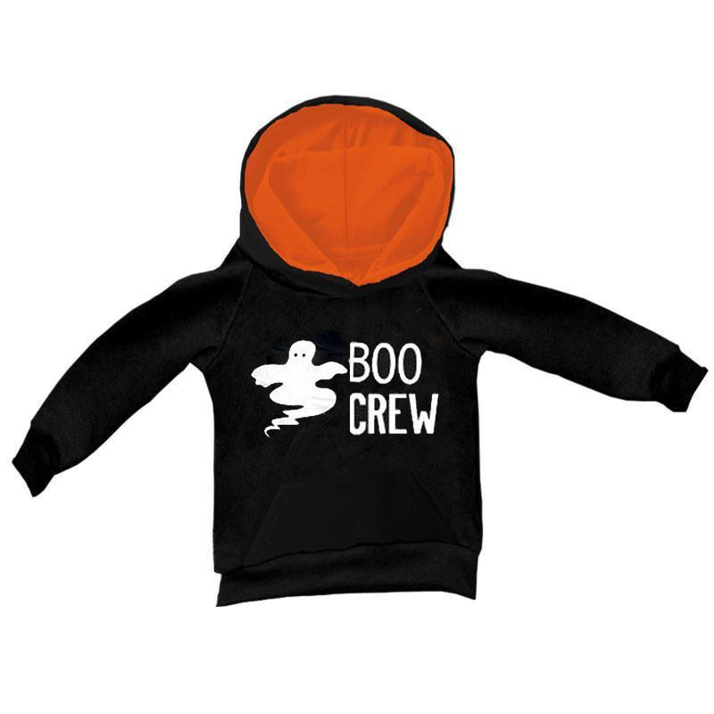 Boo Crew Hoodie Ghost Black Orange Boy