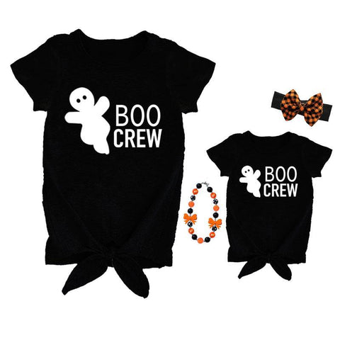 Boo Crew Shirt Mommy Me Black