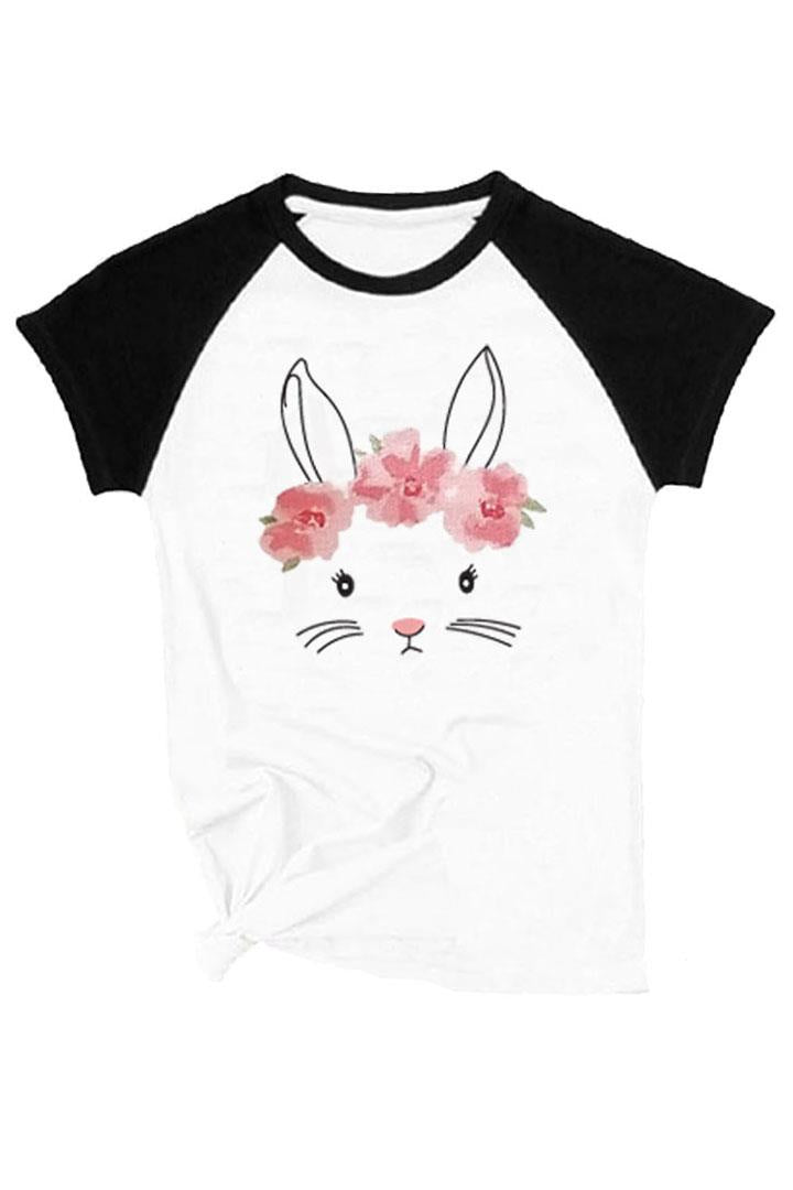 Bunny Face Raglan Shirt Floral Mommy And Me