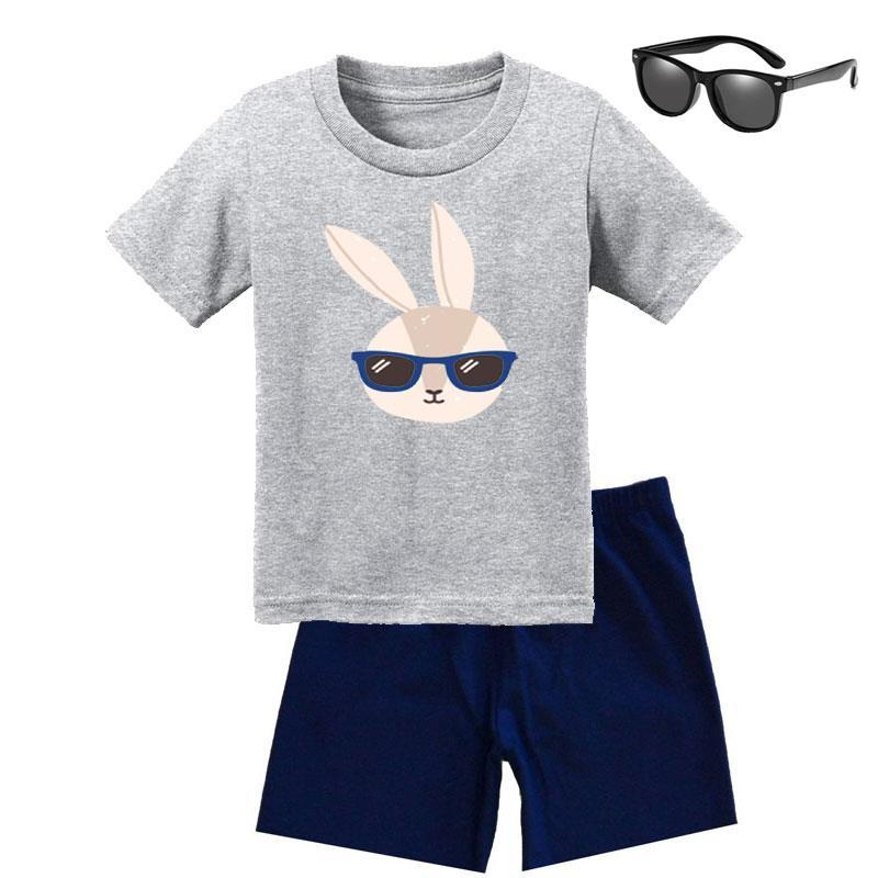 Bunny Hip Hop Shades Outfit Navy Heather Gray Shirt Daddy Me