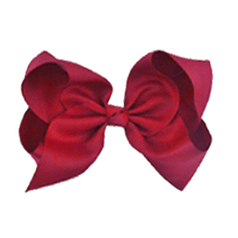 Burgandy Knot Hair Bow