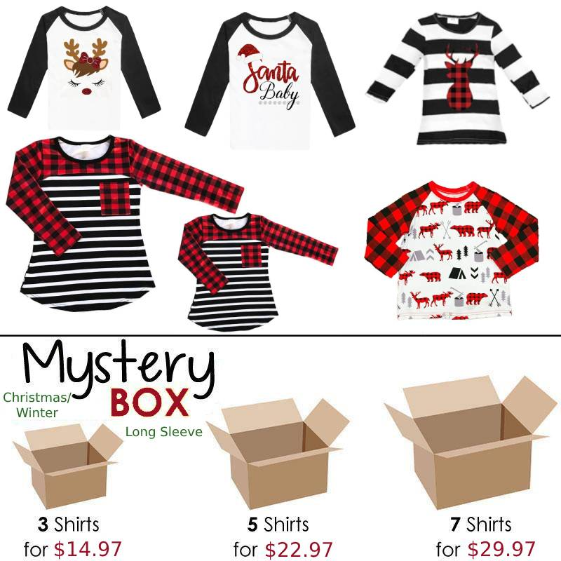 Christmas Winter Mystery Box Shirts Long Sleeve