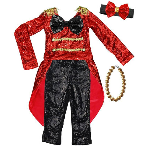 Circus Ring Master Costume Red Sequin