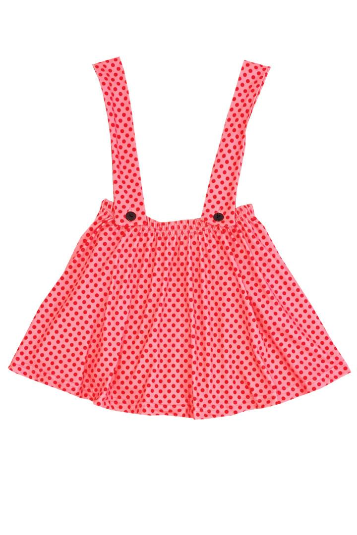 Coral Pink Jumper Red Polka Dot