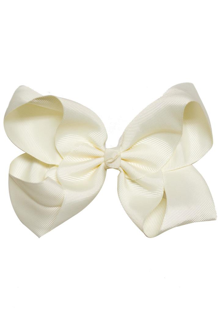 Cream White Hair Bow Knot
