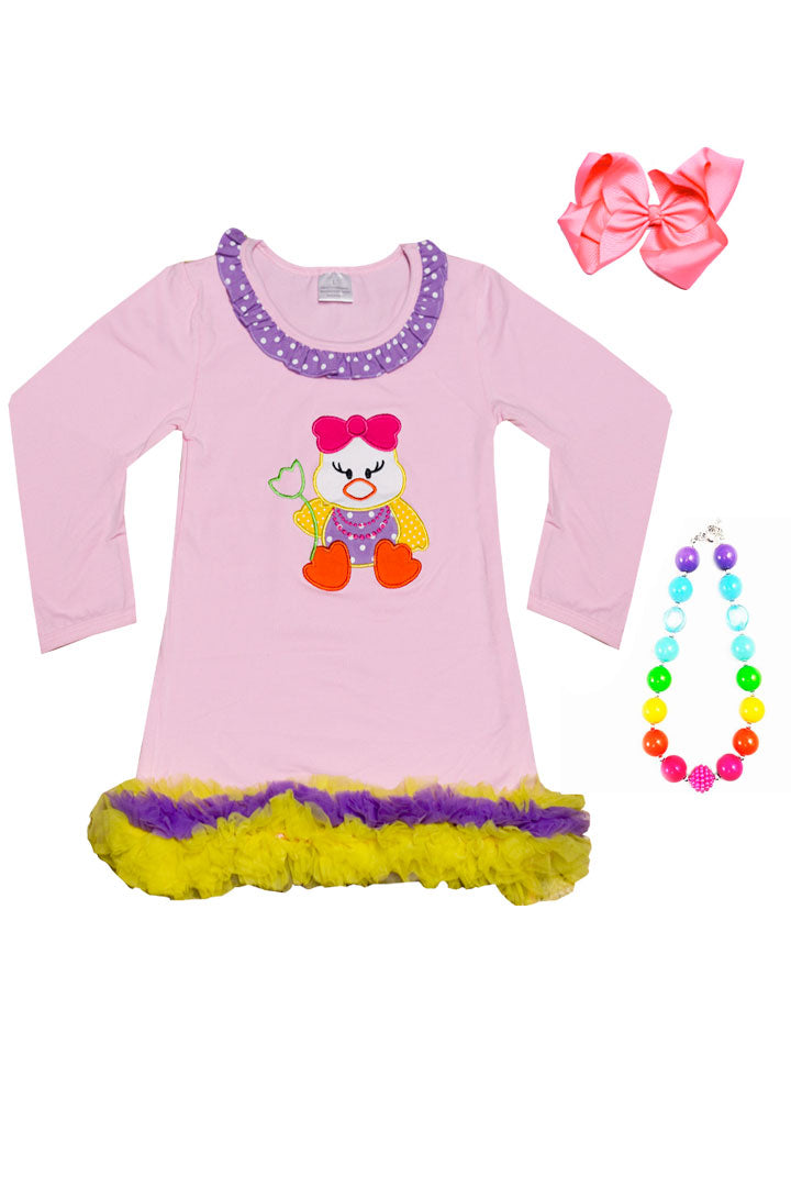 Easter Chic Tutu Dress Pink Ruffle