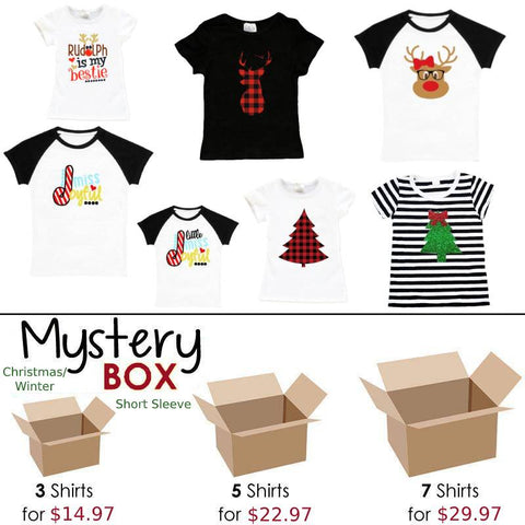 Fall Winter Mystery Box Short Sleeve Shirts