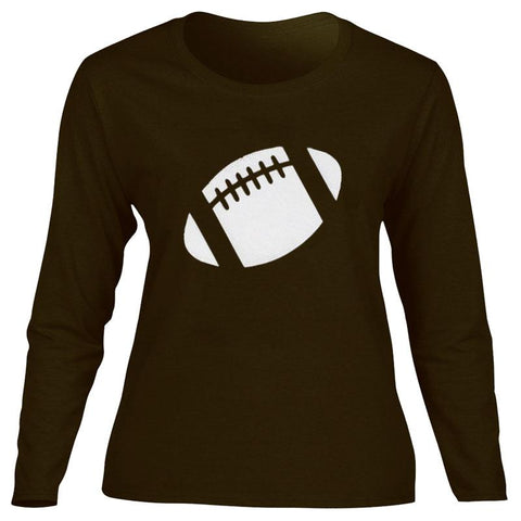 Football Shirt Mom Brown Long Sleeve