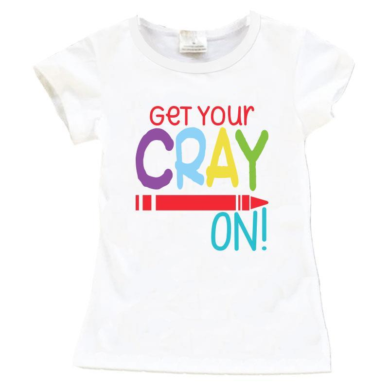 Get Your Crayon Shirt White