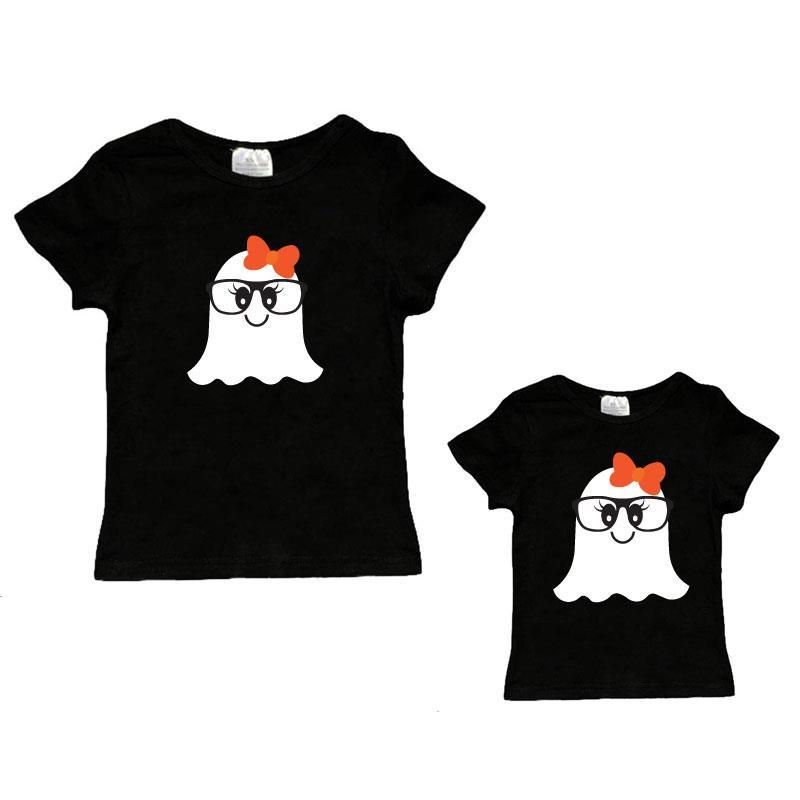 Ghost Glasses Shirt Black Mommy And Me