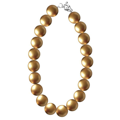 Gold Necklace Gumball Chunky