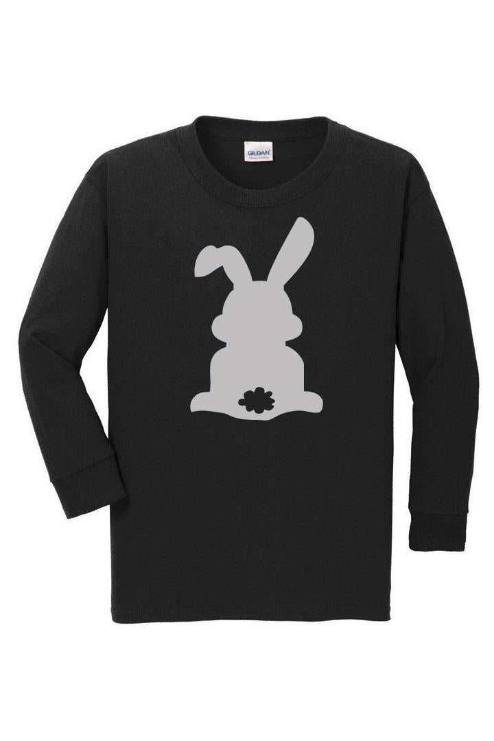 Gray Bunny Cottontail Shirt Black Boy