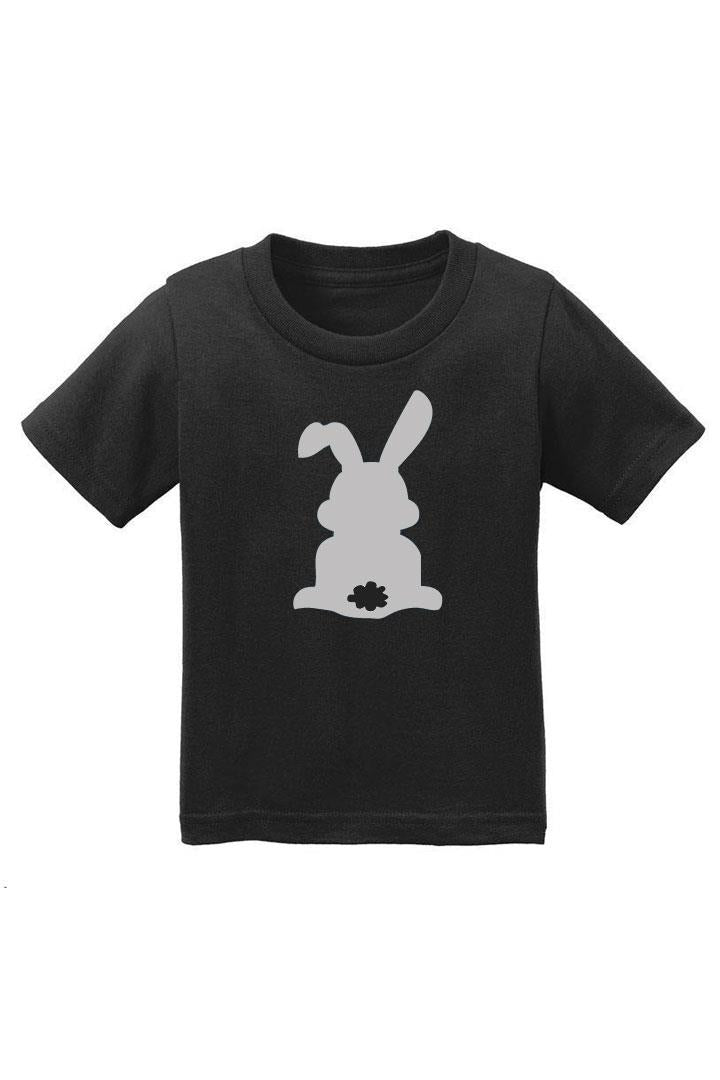 Gray Bunny Cottontail Shirt Black Short Sleeve Boy