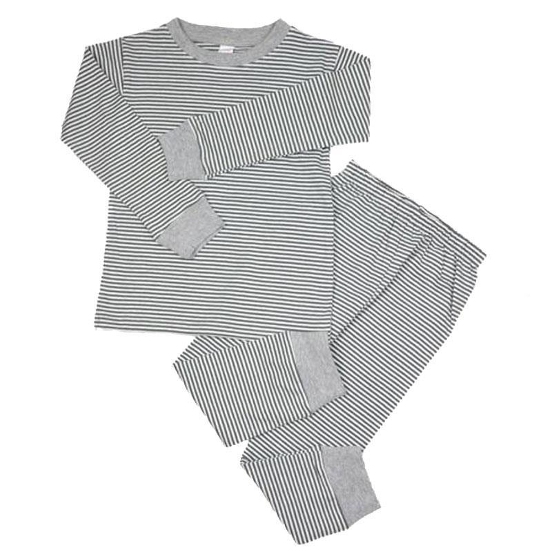 Gray Stripe Pajamas